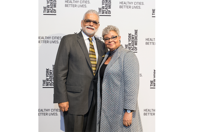 Pfizer Inc. Executive Vice President & Chief Medical Officer Freda Lewis-Hall and husband Randy Hall