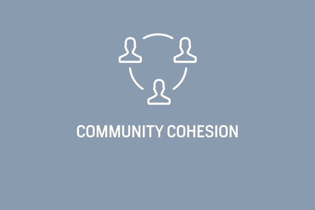 Health and community cohesion are inextricably linked. In more cohesive communities, there is less social isolation, and higher levels of community engagement in decision making and more inclusive  governance can be promoted.