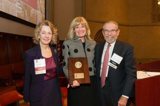 Jo Ivey Boufford, MD, Terry Fulmer, PhD, RN, President of the Hartford Foundation, George Thibault, MD, President of the Josiah Macy Foundation, Chair, Academy Board of Trustees