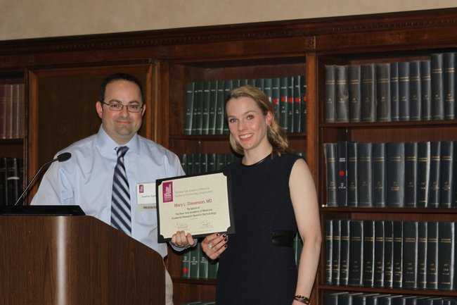 February 22, 2016: Howard Fox Memorial Lecture: Mary L. Stevenson, MD receives the 2016 New York Academy of Medicine Academic Research Award in Dermatology