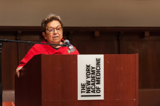 Donna Shalala, PhD, discourse keynote speaker, President of the Clinton Foundation