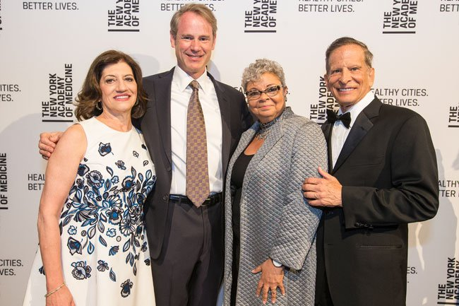 Judith Salerno, Jim Flynn, Freda Lewis-Hall, Richard Merkin at the 2018 Gala