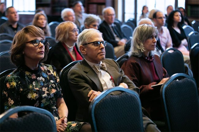 Our engaged audience listens during John Colapinto's lecture.