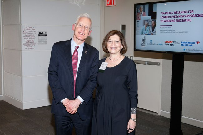 James Appleby, Gerontological Society of America and Judith Salerno, MD, President of The New York Academy of Medicine