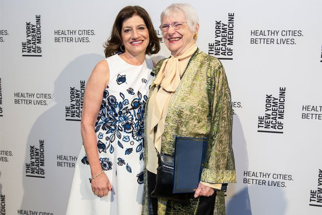 President Judith Salerno and the 2018 Urban Health Equity Champion, Ruth Watson Lubic